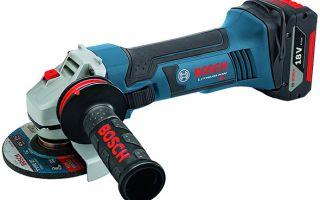 Новые аккумуляторные угловые шлифмашины Bosch